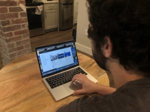 A student uses a laptop to visit LabXchange.org.