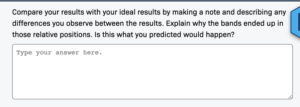 A screenshot of a formative assessment on LabXchange.